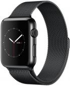 Браслет миланский для Apple Watch 42/44мм сетчатый, черный