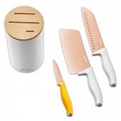 Набор титановых ножей Xiaomi Solista titanium-plated, розовое золото