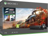 Игровая приставка Xbox One X 1TB + Forza Horizon 4 и Forza 7, черный