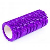 Валик для фитнеса массажный 30х10см, фиолетовый