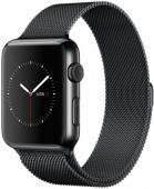 Браслет миланский для Apple Watch 38/40мм сетчатый, черный