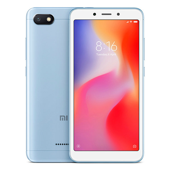 Смартфон Xiaomi Redmi 6A, 16GB/2, голубой (Global Version)