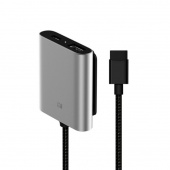 Автомобильный удлинитель Extended Hub USB-C для Xiaomi Mi QC3.0, серебристый