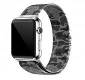Браслет миланский для Apple Watch 42/44мм сетчатый, камуфляж серый