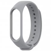 Ремешок для Xiaomi Mi Band 5, силиконовый, серый
